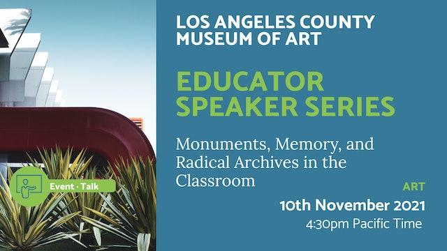 21.11.10 (Wed Nov 10th)   Educator Speaker Series
