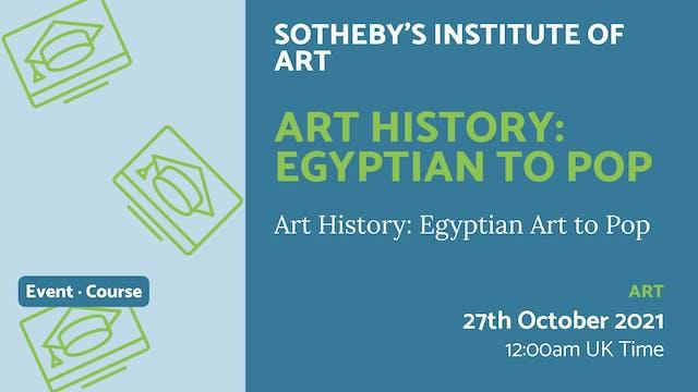 21.10.27 (Wed Oct 27th) | Art History...