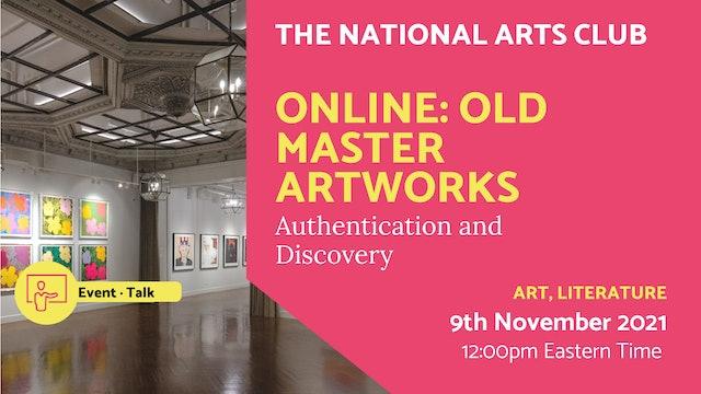 21.11.09 (Tue Nov 9th) | Online: Old Master Artworks