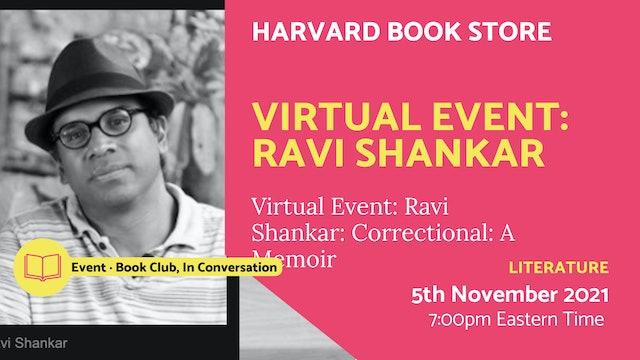 21.11.05 (Fri Nov 5th)   Virtual Event: Ravi Shankar