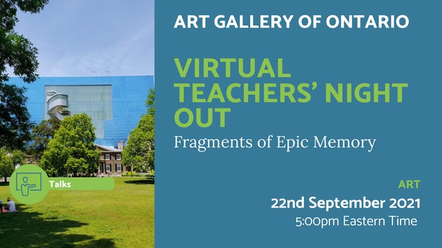 21.09.22 (Wed Sep 22nd)   Virtual Teachers' Night Out
