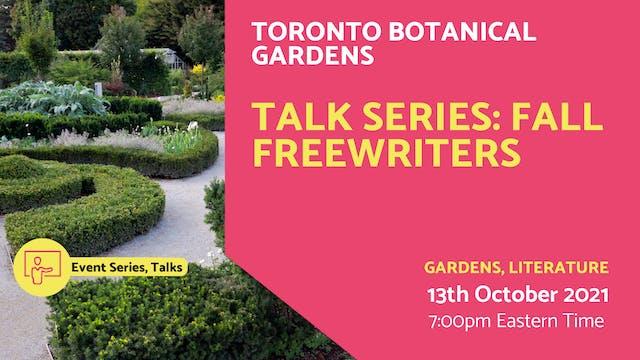 21.10.13 (Wed Oct 13th) | Talk Series...