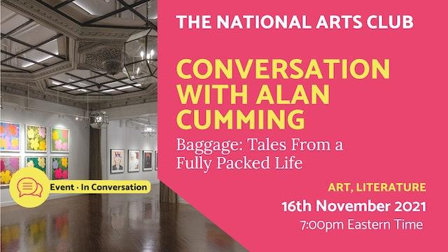 21.11.16 (Tue Nov 16th) | Conversation with Alan Cumming