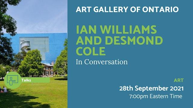 21.09.28 (Tue Sep 28th)   Ian Williams and Desmond Cole