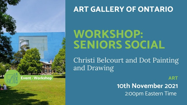 21.11.10 (Wed Nov 10th)   Workshop: Seniors Social