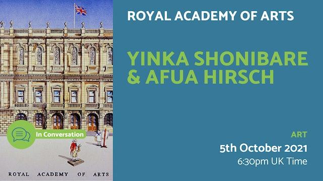 21.10.05 (Tue Oct 5th) | Yinka Shonibare & Afua Hirsch