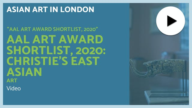 🎥 | AAL Award 2020: Christie's East A...