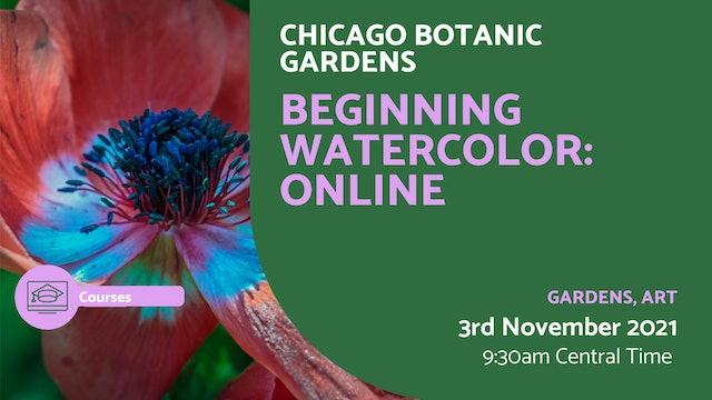 21.11.03 (Wed Nov 3rd) | Beginning Watercolor: Online