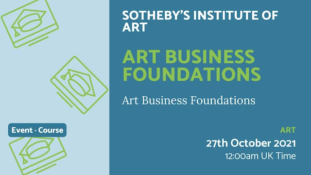 21.10.27 (Wed Oct 27th) | Art Busines...