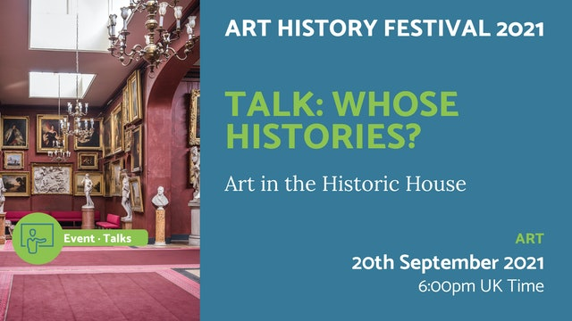 21.09.20 (Mon Sep 20th) | Talk: Whose Histories?
