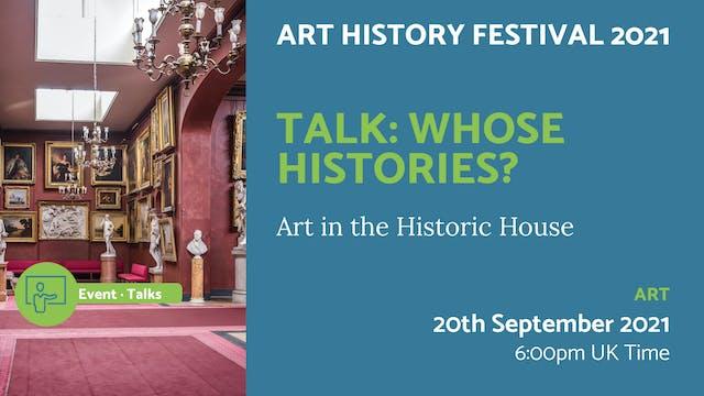 21.09.20 (Mon Sep 20th) | Talk: Whose...
