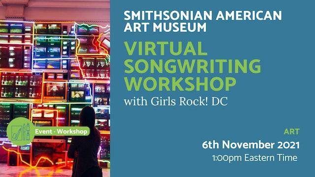21.11.06 (Sat Nov 6th)   Virtual Songwriting Workshop