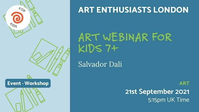 21.09.21 (Tue Sep 21st) | Art Webinar for Kids 7+
