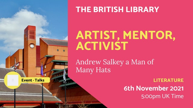 21.11.06 (Sat Nov 6th) | Artist, Mentor, Activist