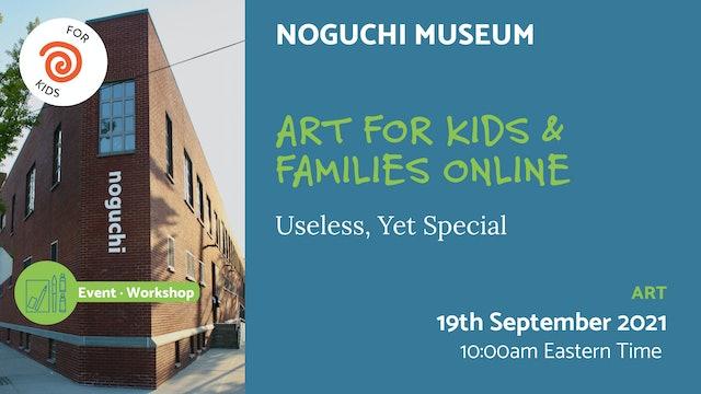 21.09.19 (Sun Sep 19th) | Art for Kids & Families Online