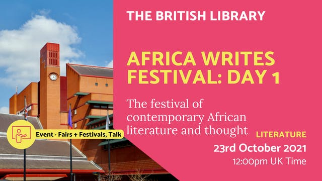 21.10.23 (Sat Oct 23rd) | Africa Writ...