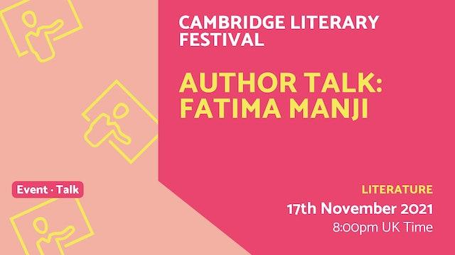 21.11.17 (Wed Nov 17th)   Author Talk: Fatima Manji
