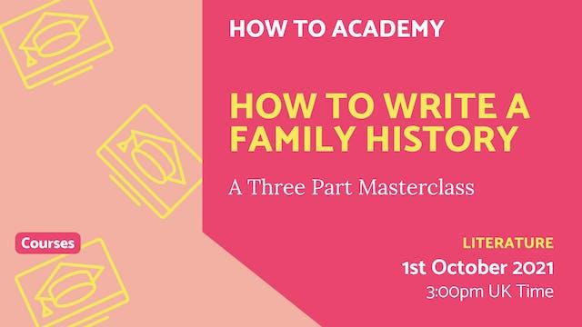 21.10.01 (Fri Oct 1st)   How to Write...