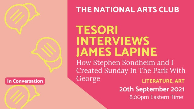 21.09.20 (Mon Sep 20th) | Tesori interviews James Lapine