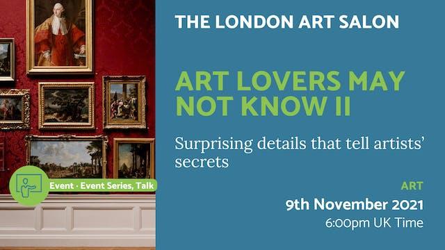 21.11.09 (Tue Nov 9th) | Art Lovers M...