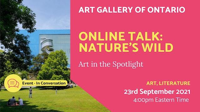 21.09.23 (Thu Sep 23rd)   Online Talk: Nature's Wild