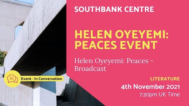 21.11.04 (Thu Nov 4th) | Helen Oyeyem...