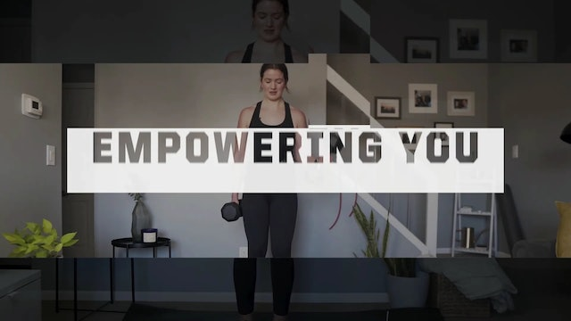 25 Minute DB & Band Upper Body Superset Workout w/ Bailey