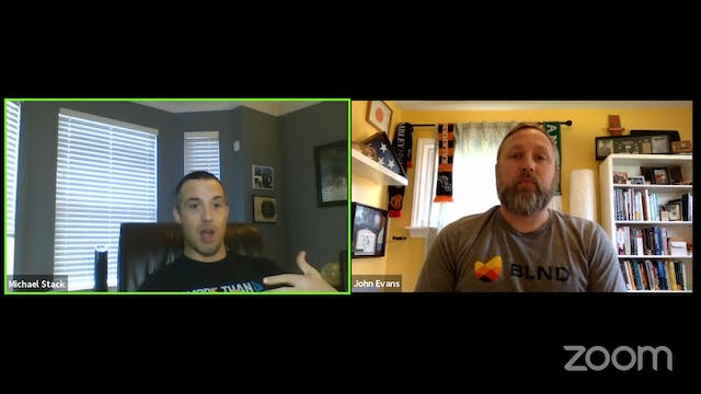 Dr. John Evans and Mike Stack on ment...
