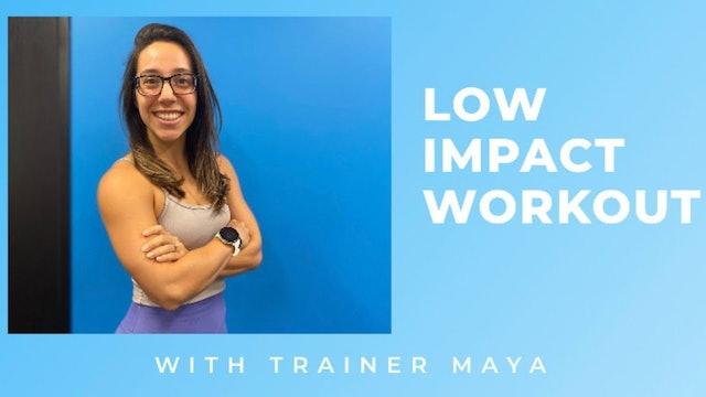 Low-Impact Step Workout w/ Trainer Maya 12.08.2020