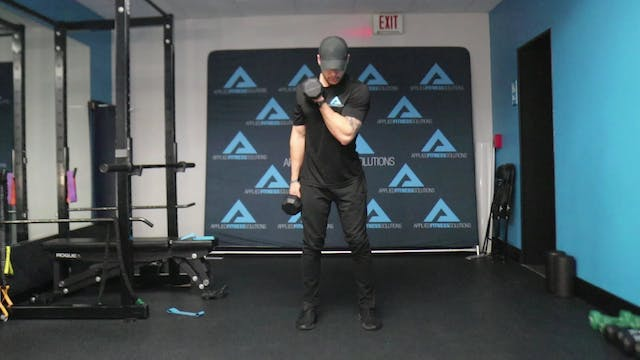 25 Minute DB/Band Glutes & Arms Worko...