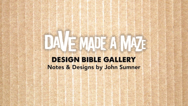 Design Bible of Dave Made A Maze