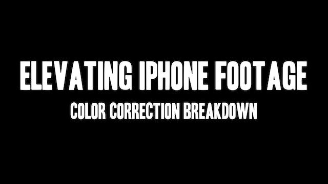 The Making of Threshold: Elevating iPhone Footage Color Correction Breakdown
