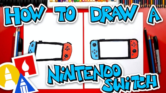 How To Draw A Nintendo Switch