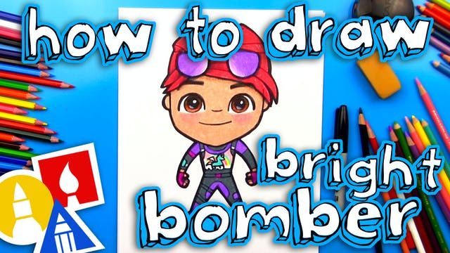 How To Draw Bright Bomber From Fortnite