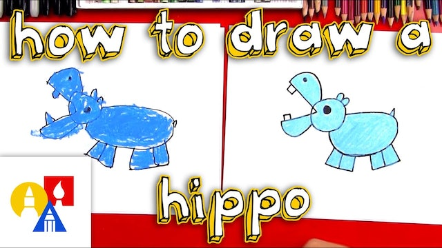 How To Draw A Hippo With Shapes