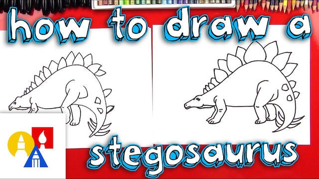 How To Draw A Stegosaurus Dinosaur