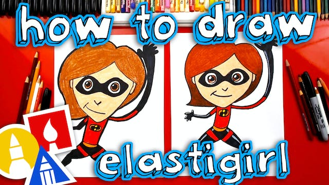 How To Draw Elastigirl From Incredibl...