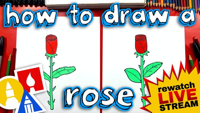 How To Draw A Rose For Mothers Day