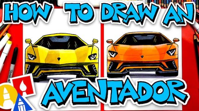 How To Draw A Lamborghini Aventador S...