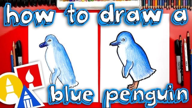 How To Draw A Blue Penguin