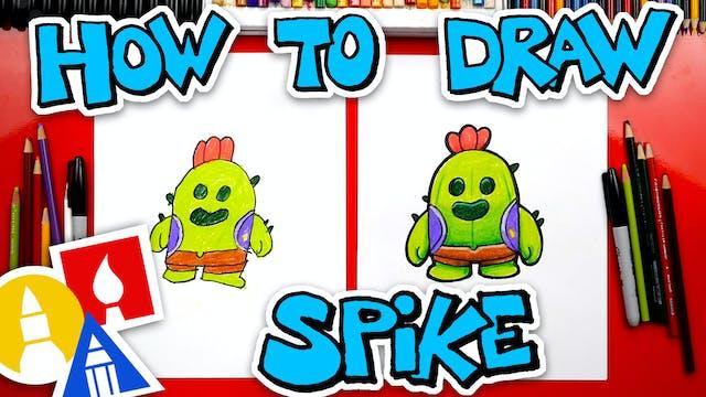 How To Draw Spike From Brawl Stars