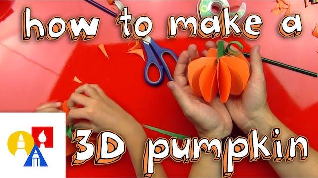 How To Make A 3D Pumpkin