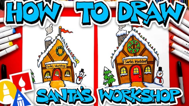 How To Draw Santas Workshop