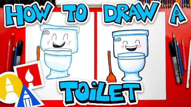 How To Draw A Funny Toilet