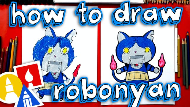 How To Draw Robayan From Yo-kai Watch