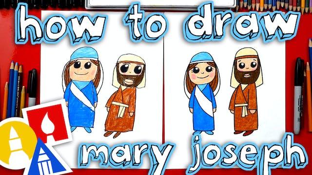 How To Draw Mary And Joseph - Nativity