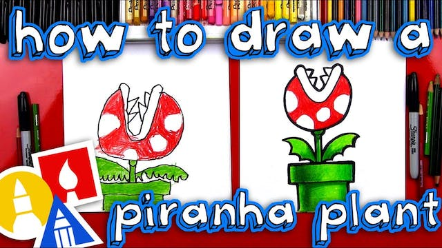 How To Draw Mario Piranha Plant