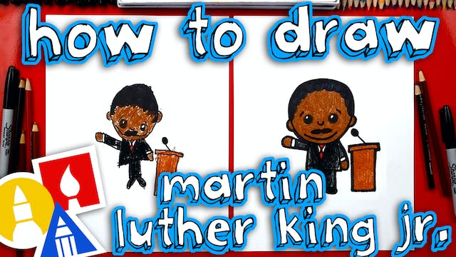 How To Draw Cartoon Martin Luther Kin...
