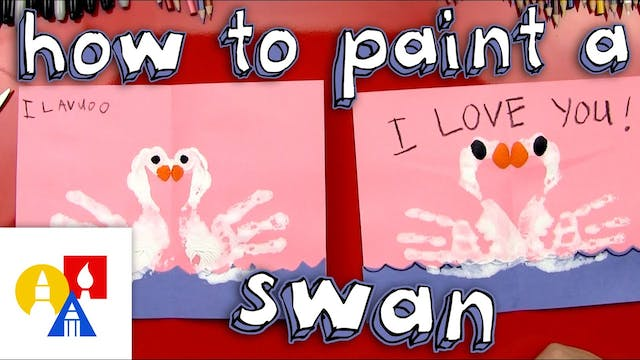 How To Finger Paint Swans