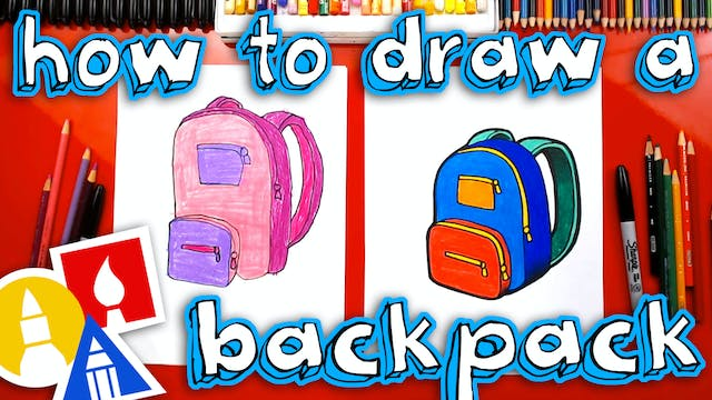 How To Draw A School Backpack